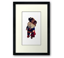 The superdog Framed Print