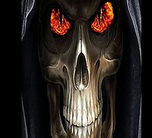 The Reaper (Happy Halloween) iPhone Case by Dennis Melling