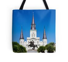 The St. Louis cathedral, New Orleans, LA, USA Tote Bag