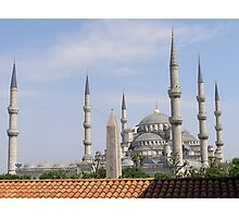 Blue Mosque Behind the Obelisk Photographic Print