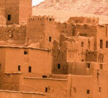 Mud houses in the village of Ait Benhaddou, Morocco  Sticker