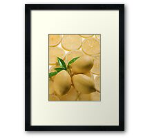 Whole and sliced lemons  Framed Print