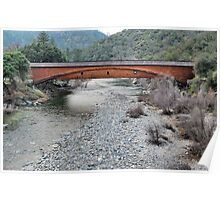 The Longest Covered Wooden Bridge in America Poster
