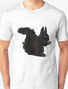 Squirrel blue and orange swirl Unisex T-Shirt