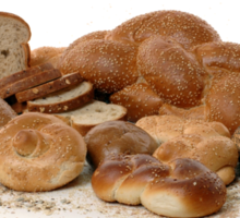 Various types of freshly backed bread Sticker