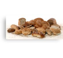 Various types of freshly backed bread Canvas Print