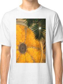 Happy Yellow Silk Decor With Stars Classic T-Shirt