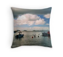 St. Barts Harbor Throw Pillow