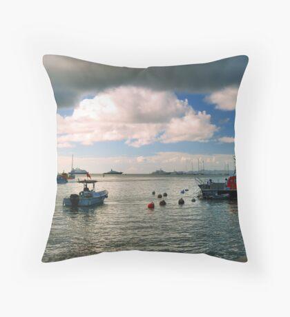 St. Barts Harbor Throw Pillow