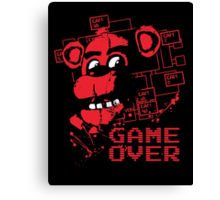 Five Nights At Freddy's Pizzeria Game Over Canvas Print