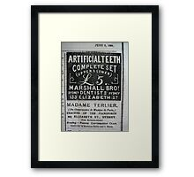 A SYDNEY PAPER IN THE 1880'S Framed Print