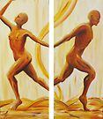 Dance of life diptych by Marie Magnusson