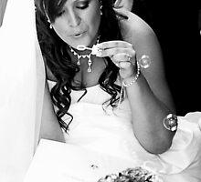 contented bride by caradione