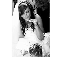 contented bride Photographic Print