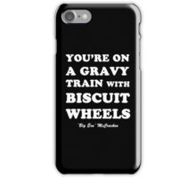 Kingpin - Gravy Train With Biscuit Wheels iPhone Case/Skin