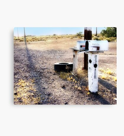 mailboxes, route 66, amboy, california Canvas Print