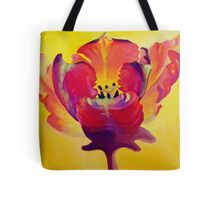 Red and Yellow Flame Tote Bag