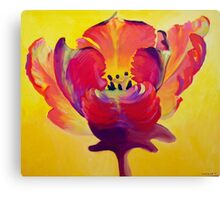 Red and Yellow Flame Canvas Print