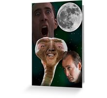 "Nicolas Cage - ""Wolf Shirt"" Greeting Card"