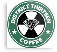 Starbucks District Thirteen Hunger Games Metal Print