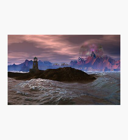 Cloned Worlds - Ambrosius Lighthouse. Photographic Print