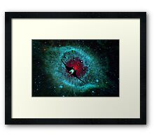 Venetian Interstellar Cruiser with Escorts at the Helix Nebula - all products Framed Print