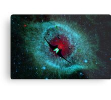 Venetian Interstellar Cruiser with Escorts at the Helix Nebula - all products Metal Print