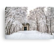 Abandoned crypt in the old park Canvas Print
