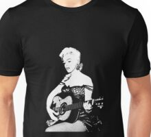 Marilyn Plays Guitar Unisex T-Shirt