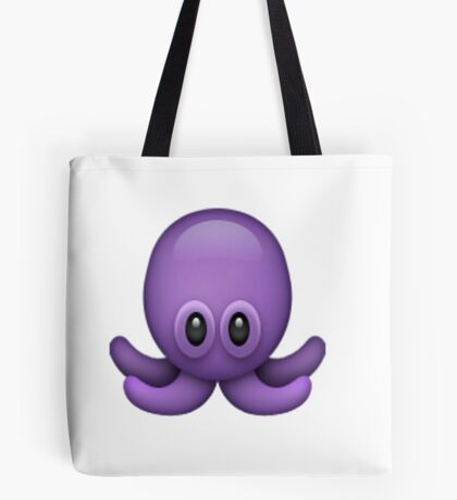Purple Octopus Emoji Tote Bag