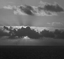 Sunset B&W by Bahoke