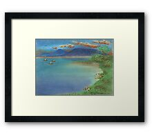 Shrimp Boats Are A-Coming Framed Print
