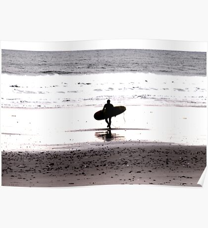 Winter Surfer Poster