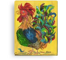 Plucky Rooster Canvas Print