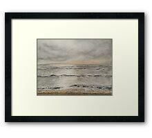 Silver Sea Framed Print