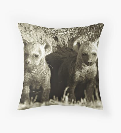 Young Pups Throw Pillow