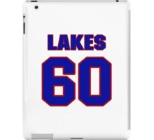 National football player Roland Lakes jersey 60 iPad Case/Skin