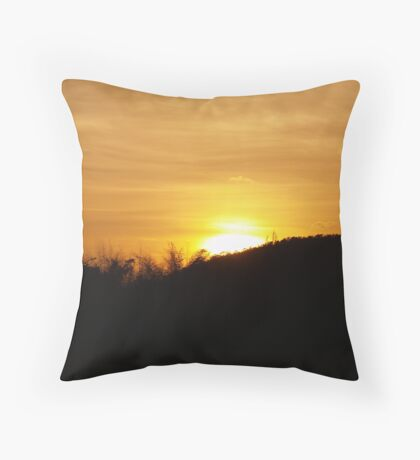 Sunset in Sri Lanka Throw Pillow