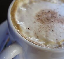 A cup of Cappuccino Coffee. Close - up by Steve Outram