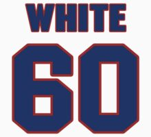National football player Chris White jersey 60 by imsport