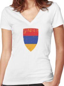 Flag of Armenia Women's Fitted V-Neck T-Shirt