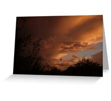 CLOUDS ON THE MOVE Greeting Card