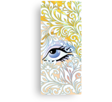 floral blue eye Canvas Print