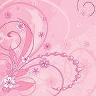 floral pink composition by VioDeSign