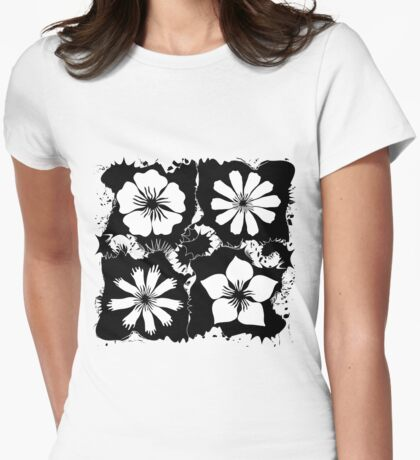 ink flowers Womens Fitted T-Shirt