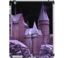 Hogwarts castle with winter snow iPad Case/Skin