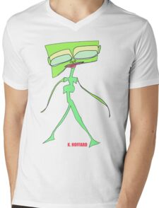 Alien Fashion Model Mens V-Neck T-Shirt
