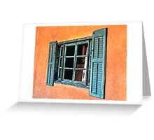 Very Old Cottage Window Greeting Card