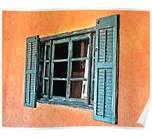 Very Old Cottage Window Poster