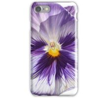 Stained Glass Pansy iPhone Case/Skin